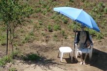 Skeleton sunbathing.