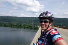 Helen over a river