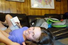 Helen writing in her journal