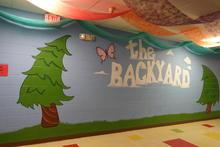 Wall decorations: The Backyard.