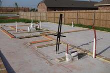 Concrete slab under the eventual house