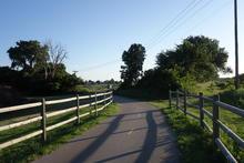 Bike path on the outskirts of OKC.